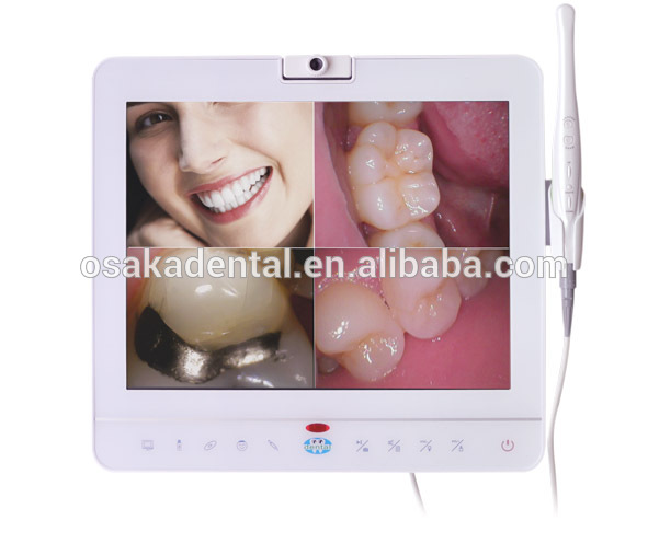 15inch white dental monitor Intraoral Camera System with VGA+VIDEO+USB