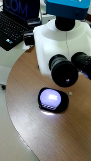 A Dental Microscope with camera install on Dental Chair of Dental equipment
