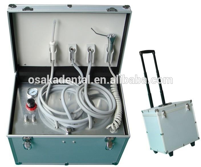 CE approved portable dental unit with built-in air compressor