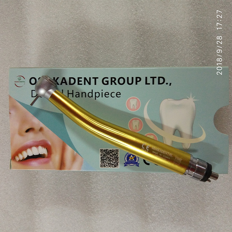Dental use Colorful Handpieces for denture curing polishing /hot sale popular colorful led high speed handpiece