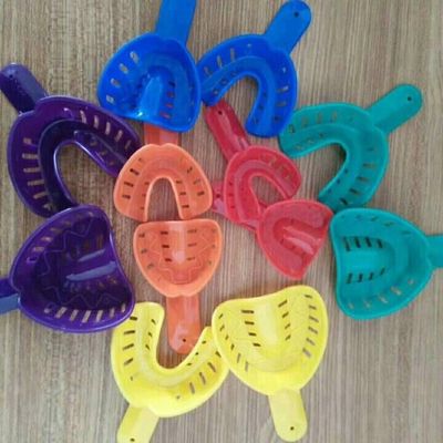 ABS Disposable kids dental impression tray with different size upper and lower dental mesh tray