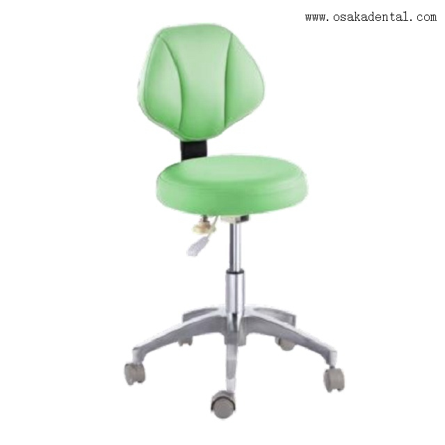 Comfortable dental stool with microfiber leather