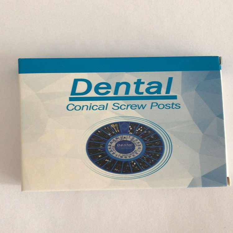 Neutral Packing Dental Screw Post Golden/Stainless Steel Plated