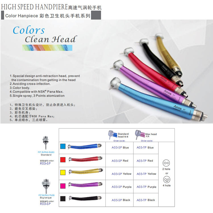 Dental Colorful Handpiece